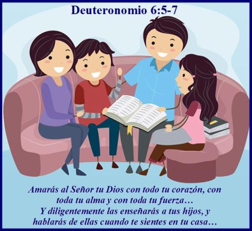 Deuteronomio 6: 5-7, versículos de la Biblia Dia del Padre