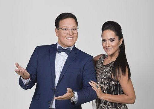 """Con Ana Lorena Sánchez, Raúl condujo el programa """"Gran Oportunidad"""" por la cadena Telemundo"""