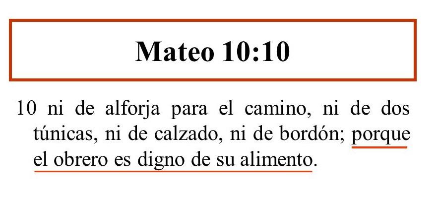 Mateo 10-10 versiculos de la biblia para compartir, Labor Day 2017
