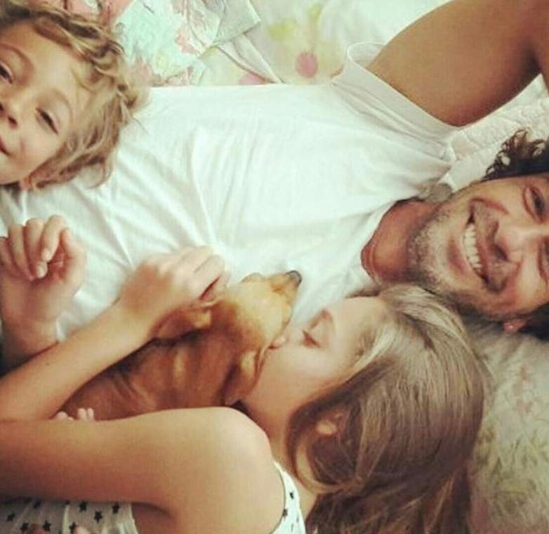 Valentino y Luna hijos de Gregorio Pernia
