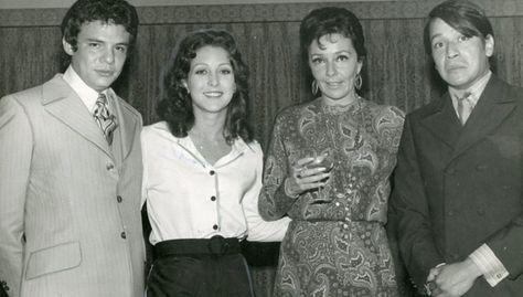 Natalia Kiki Herrera Calles, primera esposa de Jose José, Angelica Maria, Kiki Herrera y José Agustin