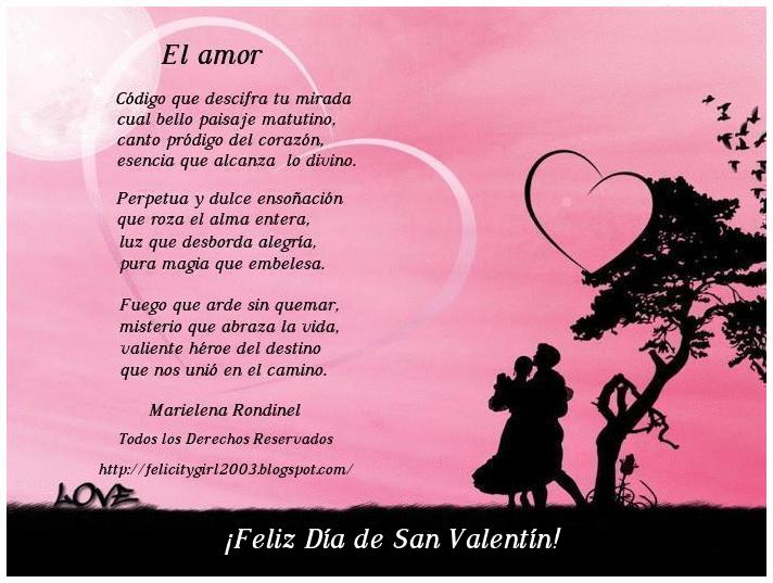Día de San Valentin, Poemas, imagenes, Frases, Dia de los enamorados