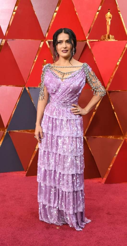 Oscar 2018: Los peores vestidos de la alfombra roja, Salma Hayek