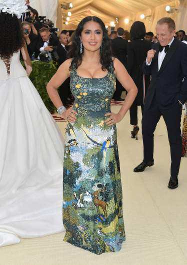 Salma Hayek, Met Gala 2018
