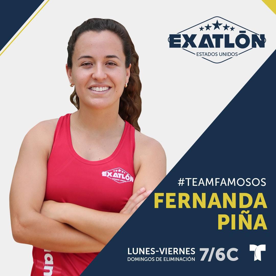 """""""EXATLON""""- Estados Unidos: ¿Quiénes son los concursantes? [FOTOS], Fernanda Piña, Team Famosos"""