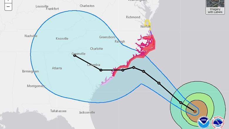 Huracán Florence Charleston: Última Trayectoria y pronóstico del tiempo, Hurricane Florence Charleston: Latest Track & Weather Forecast