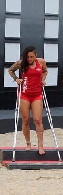 Jennifer Salinas lesionada en Exatlón Estados Unidos