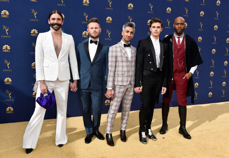 Premios Emmys 2018: Los peores looks de la alfombra roja [FOTOS], peores vestidos,, Jonathan Van Ness, Bobby Berk, Tan France, Antoni Porowski, and Karamo Brown