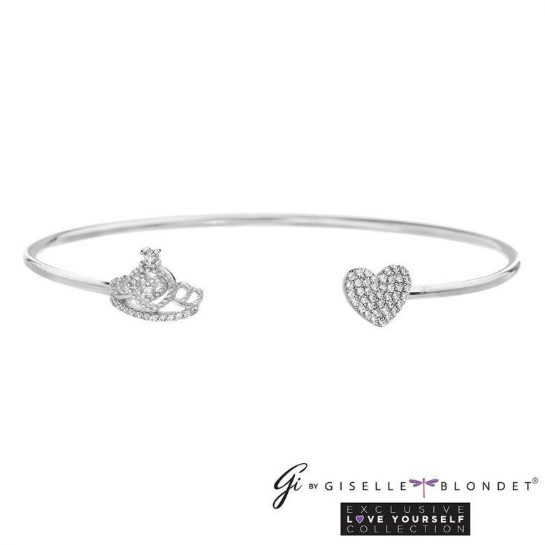 ¿Dónde comprar los accesorios de Giselle Blondet para Nuestra Belleza Latina? Pulsera para niñas con la corona y el corazon