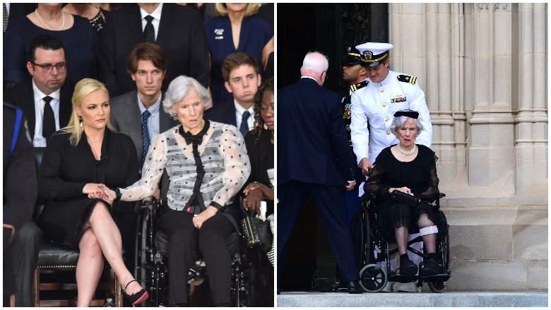 Roberta McCain, John McCain's Mother, Attends His Funeral, la mamá del senador Mc Cain