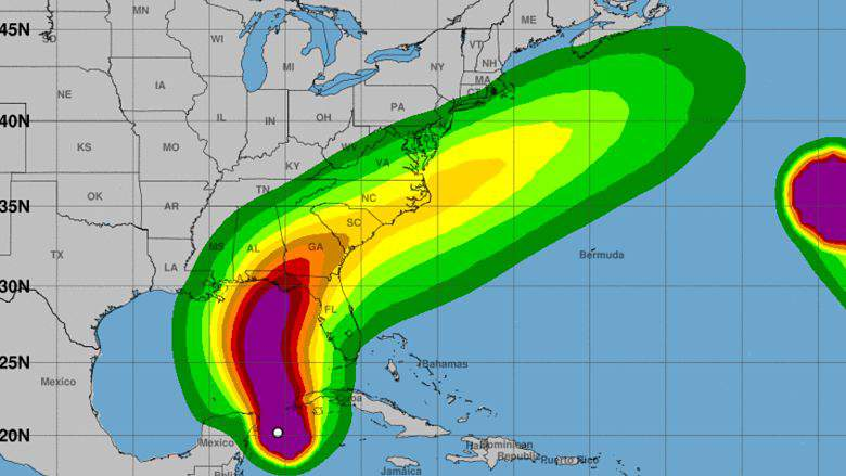 Huracán Michael:, Cuando llegara a Panama City, Lista de cierres de escuelas de Florida, Hurricane Michael: Florida School Closings List, trayectoria, seguimiento