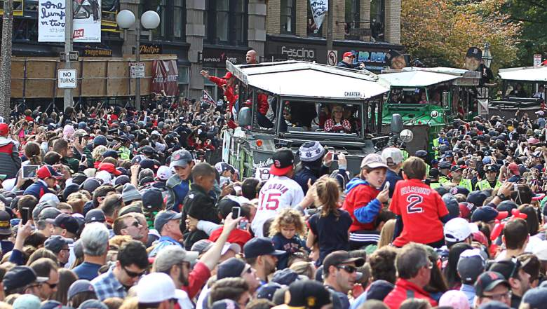 red sox desfile