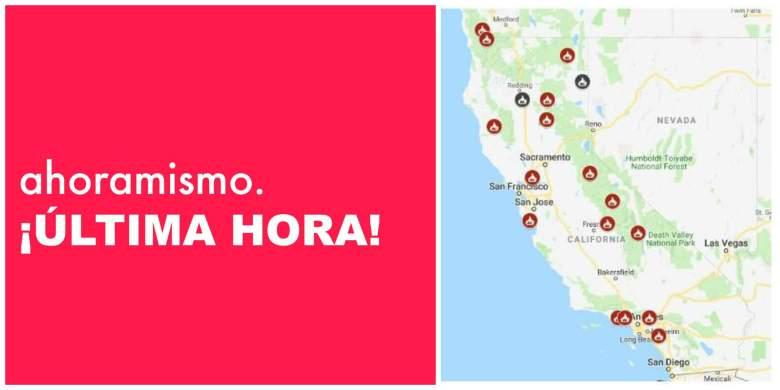 Mapa de Incendios de California: Mapas de incendios cerca de mí [9 de Nov.]