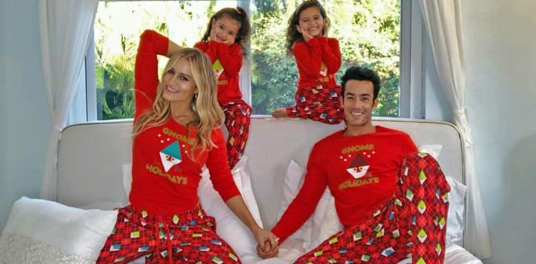 Lola Ponce con su esposo Aarón Díaz y sus hijas.