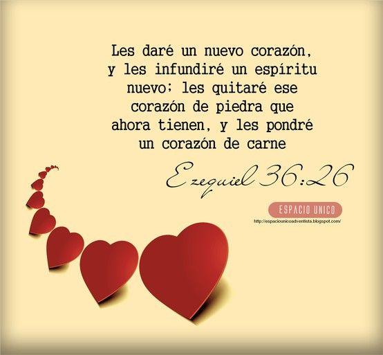 !Feliz Año Nuevo 2019!: Versículos de la Biblia para compartir, Ezequiel 36: 26