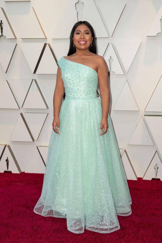 ¿Quién vistió a Yelitza Aparicio para el Oscar 2019? estilista,