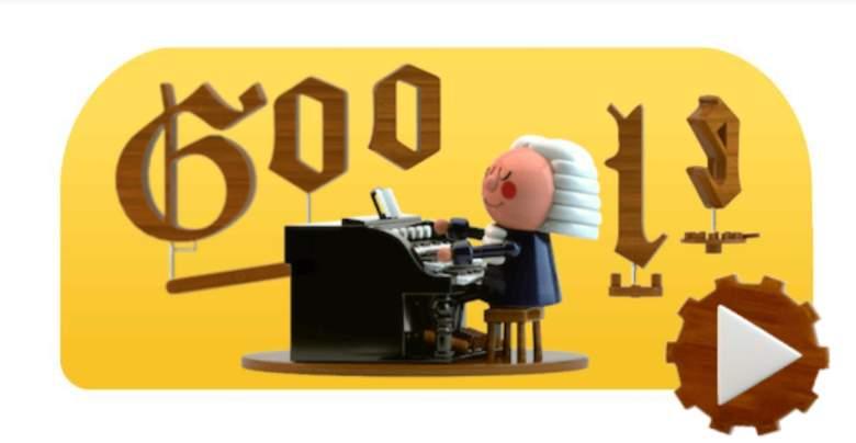 Google Doodle en homenaje a Johann Sebastian Bach