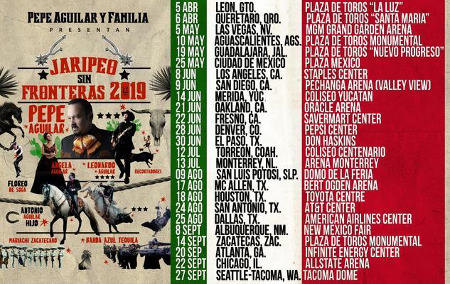 ¿Dónde y cuándo ver a Pepe Aguilar y su Familia en Concierto? Jaripeo Sin Fronteras 2019,