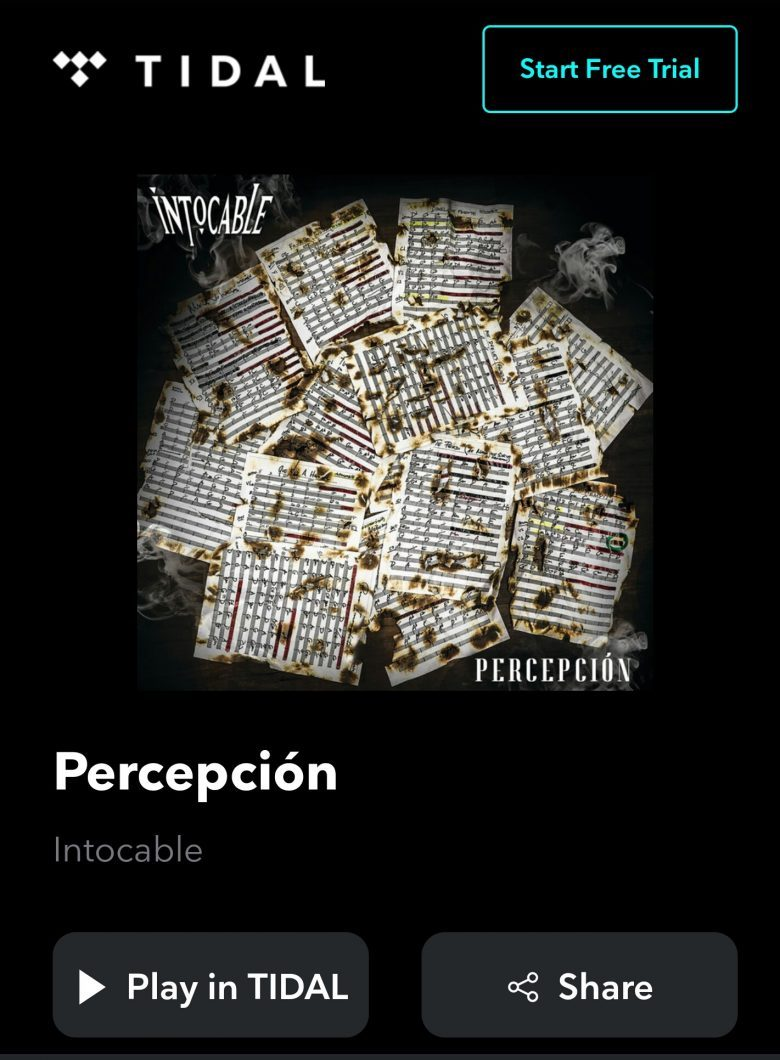 Cómo bajar y escuchar el albúm Percepción de Intocable?