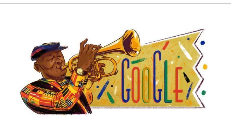 Google de Doodle de Hugh Masekela