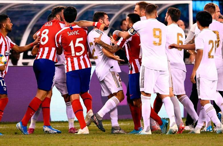 Real Madrid sufre goleada en agresivo partido contra Atlético de Madrid en New Jersey