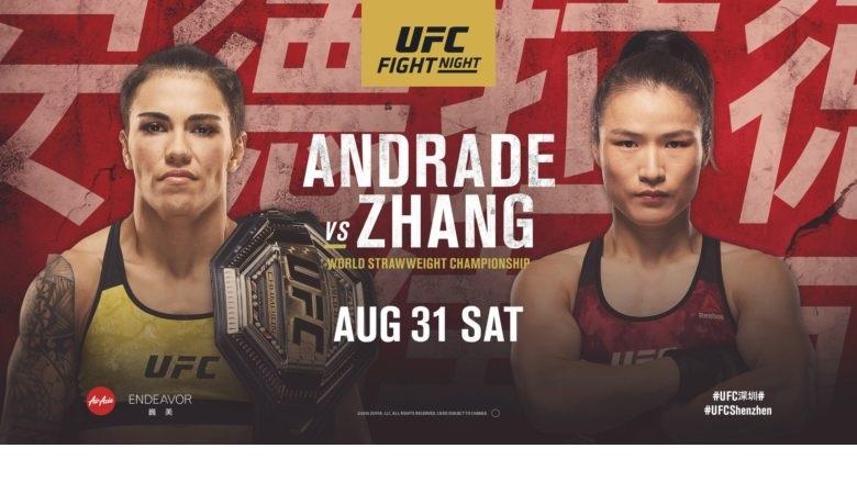 Andrade vs Zhang-UFC Fight Night: Hora y LIVESTREAM