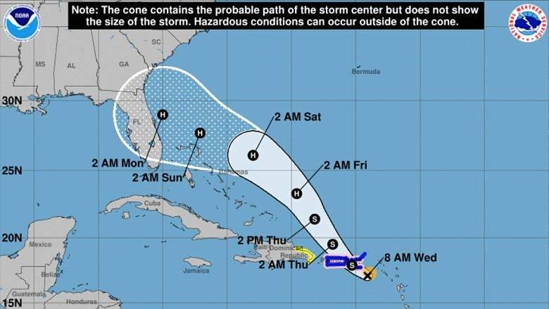 Huracán Dorian:¿Golpeará Tampa? Vea la última trayectoria