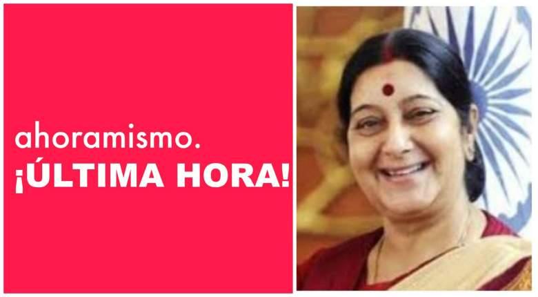 Muere Sushma Swaraj:¿Cómo murió la popular política india?