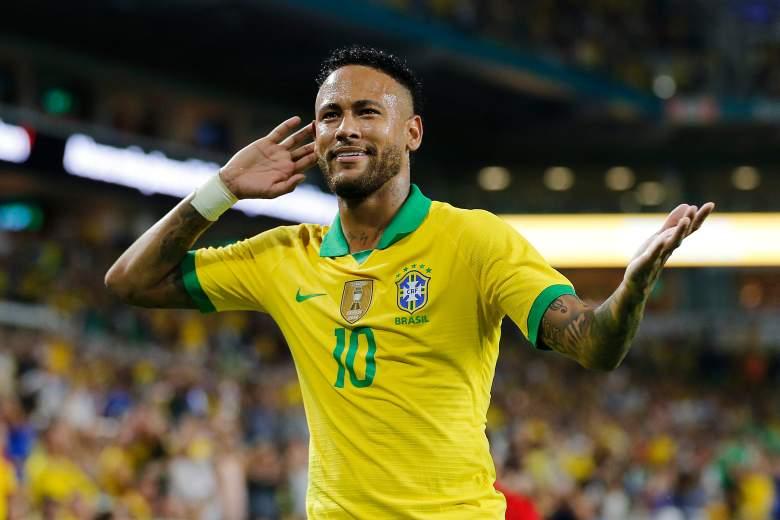 El gol de Neymar en el partido de Brasil contra Colombia