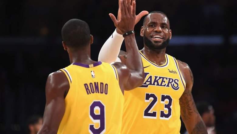 ¿De quién está defendiendo Rajon Rondo a LeBron James?