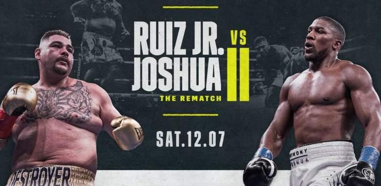 Ruiz Jr. vs. Joshua 2:¿A qué hora empieza la pelea hoy?