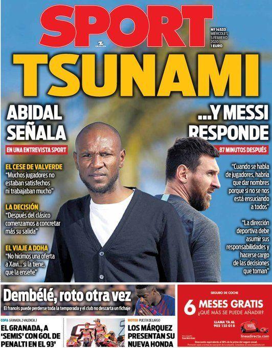 Portada del Diario Sport
