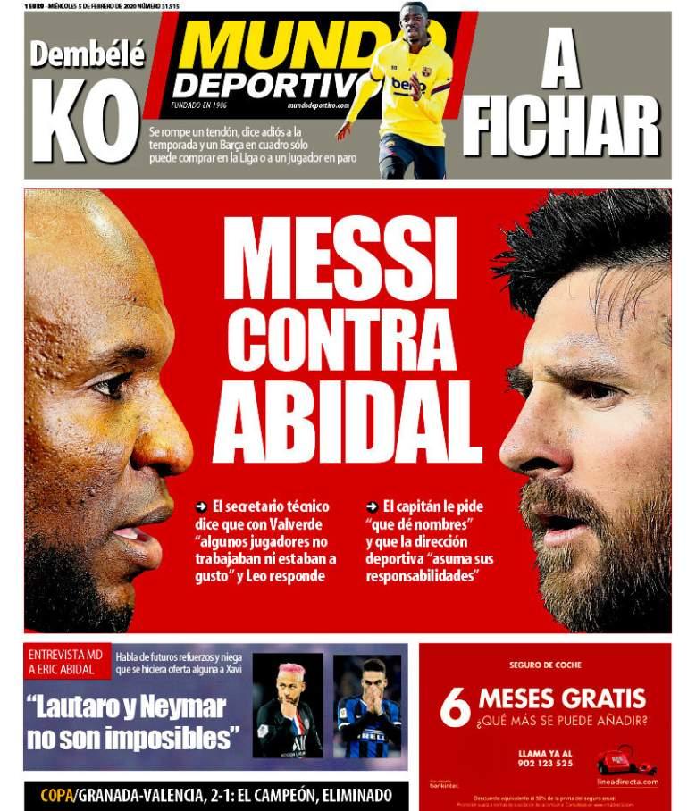 Portada del Diario Mundo Deportivo