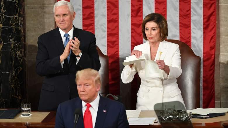 Mira a Pelosi romper el discurso de Trump