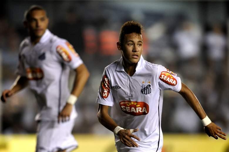 Neymar en su época con el Santos