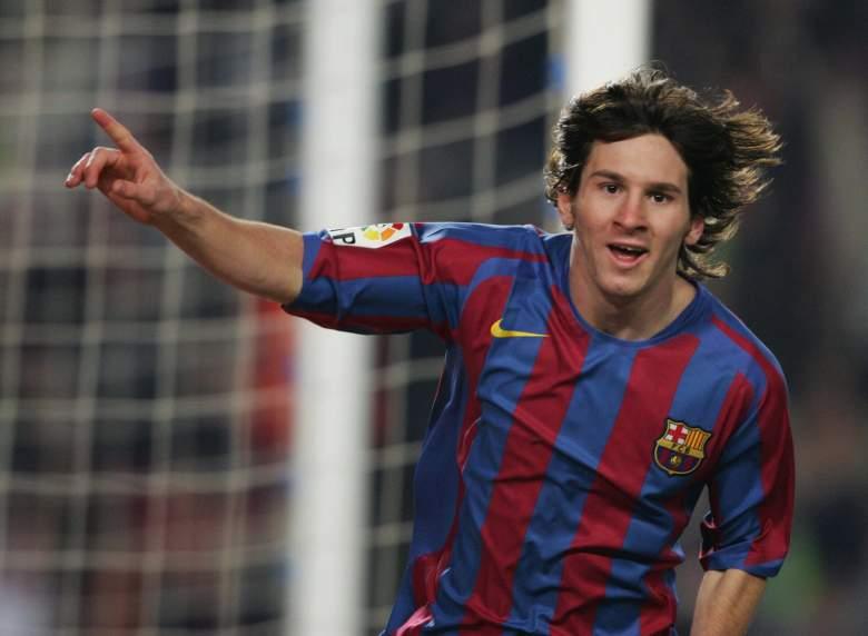 Messi con la camiseta del FC Barcelona