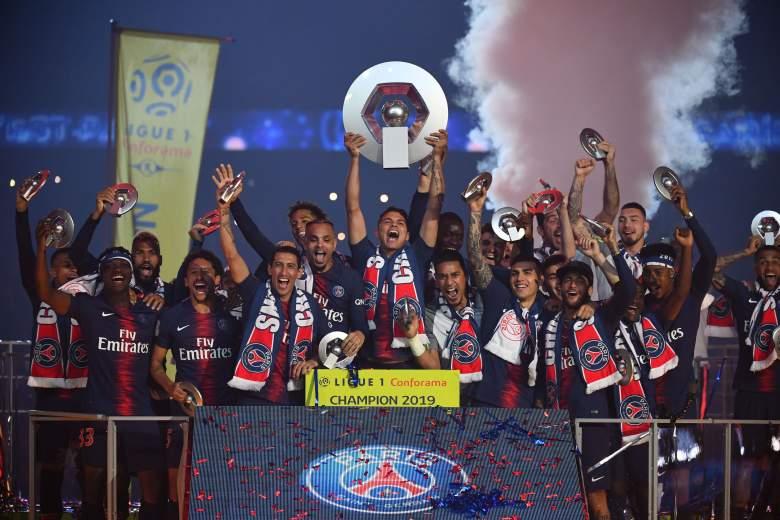 Celebración Ligue 1 PSG