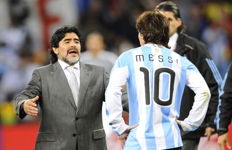 Maradona y Leo Messi - Argentina