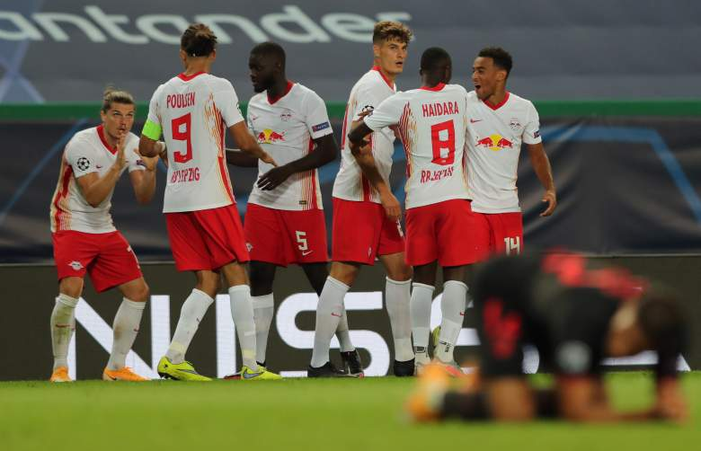 Celebración del Leipzig - UEFA Champions League