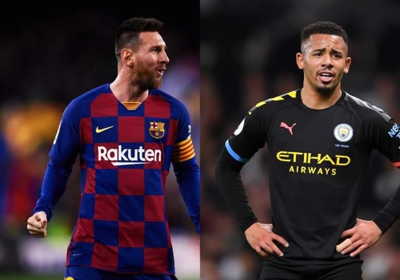 Lionel Messi y Gabriel Jesús