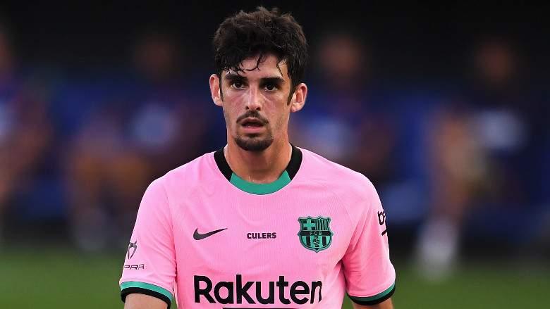 Trincão, delantero del FC Barcelona.
