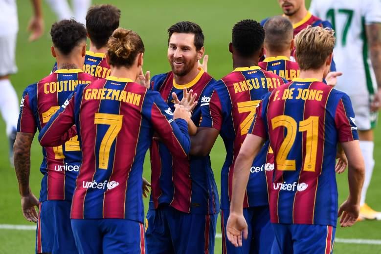 El festejo del FC Barcelona