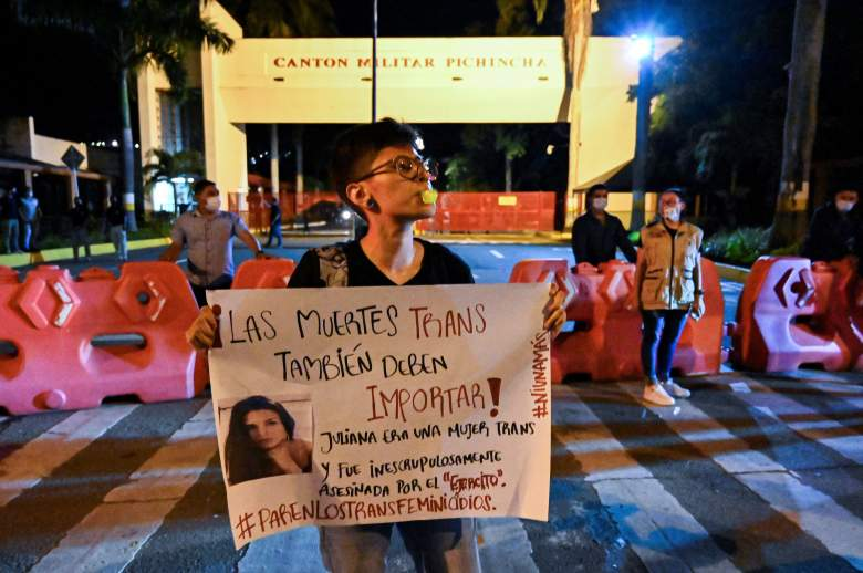 Protesta en Colombia tras el asesinato de Juliana Giraldo