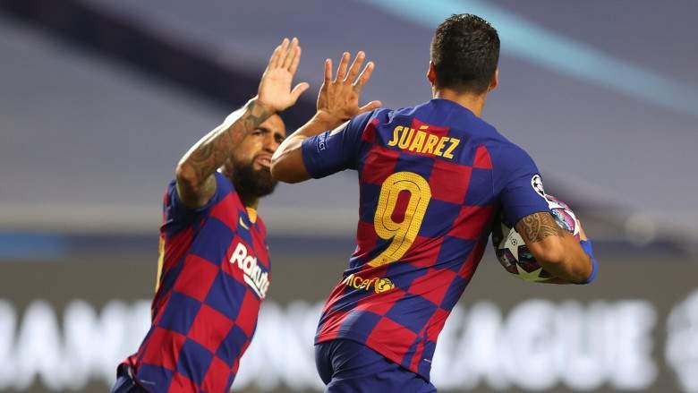 Luis Suárez y Arturo Vidal - FC Barcelona