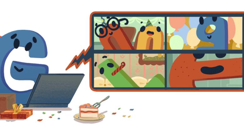 Google Doddle por el cumpleaños número 22 de Google.