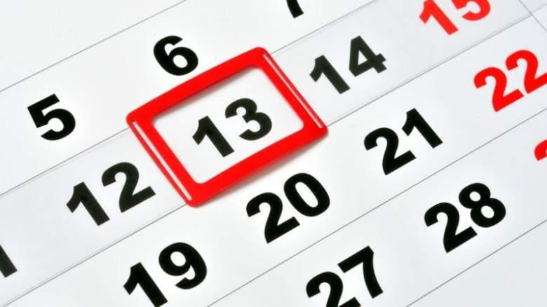Calendario 13