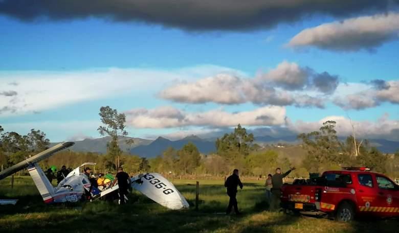 Accidente avioneta en Cundinamarca - Colombia (octubre 2020)