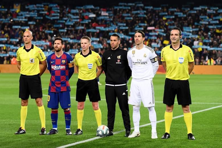 Lionel Messi y Sergio Ramos previo a un clásico.