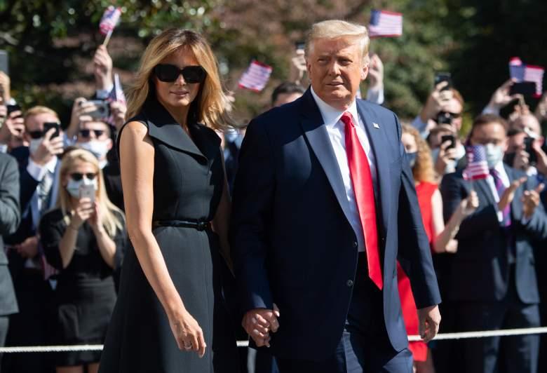Donald Trump y Melania en su viaje hacia Nashville para el Último Debate Presidencial, Universidad de Belmont - Octubre 2020