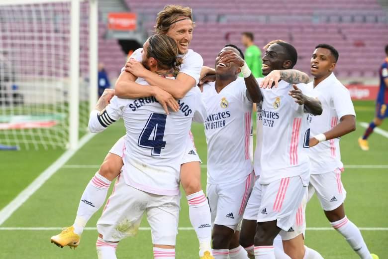 El festejo de Real Madrid en el Clásico